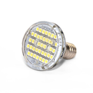 LED E14 Blitzer 47 SMD-LEDs (39+8) 220V kaltweiß (CW)