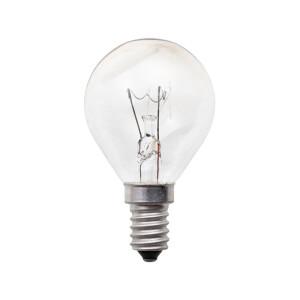 E14 Tropfen Glühbirne klar Glas