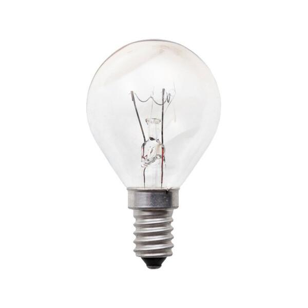 E14 Tropfen Glühbirne klar Glas 7W
