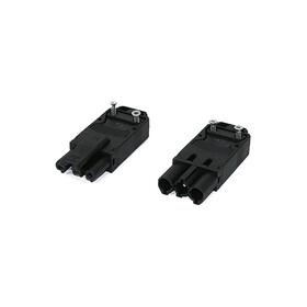 Flachstecker 3-polig schwarz komplett (M+W) IP40
