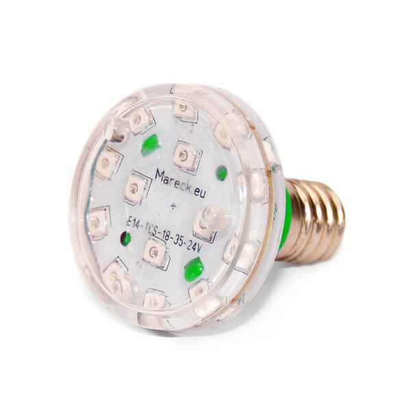 LED E14 XT18-37 24V grün (G)