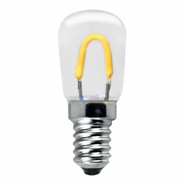 LED E14 T23 x 23mm Röhre LEDmaxx Curved Filament 0,85W 80lm 2400K