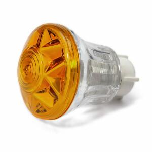 Eco Kappe komplett E14 Hals transparent Deckel gelb