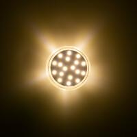LED 24 SMD (18+6) Einbaucap einfarbig 1,5W 24V 45mm IP44 mandelweiß