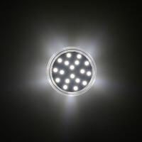 LED 24 SMD (18+6) Einbaucap einfarbig 1,5W 220V 45mm IP44 kaltweiß