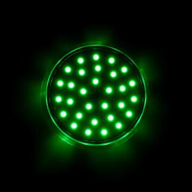 LED 35 SMD (30+5) Einbaucap 2W 24V 60mm IP44 grün