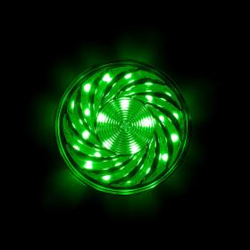 LED 35 SMD (30+5) Einbaucap 2W 220V 60mm IP44 grün