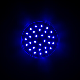 LED 35 SMD (30+5) Einbaucap 2W 220V 60mm IP44 blau