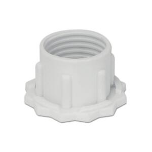 Eco Schraubring hoch E14 ( gezackt ) weiß