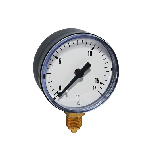 Afriso Rohrfeder-Manometer 0-16 bar 1/4 AG Ø 63mm