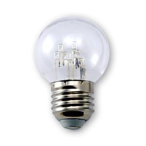 LED E27 Kugellampe 1W 11 LED´s (Crown) G45 220V